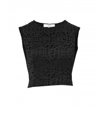 "Top Negru ""Hailey"""