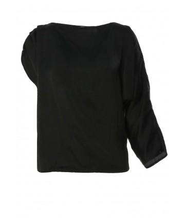 Bluza Asimetrica din Saten...
