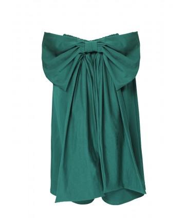 Pantalon verde cu funda...