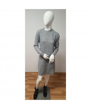 Rochie pulover gri