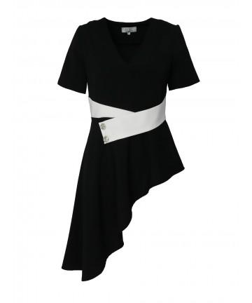 Bluza Neagra Asymetrica...