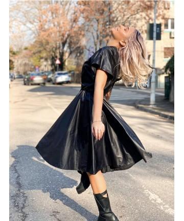 Rochie neagra din fas