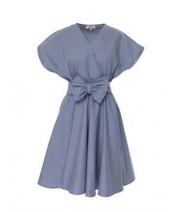 Rochie albastra cu maneci...