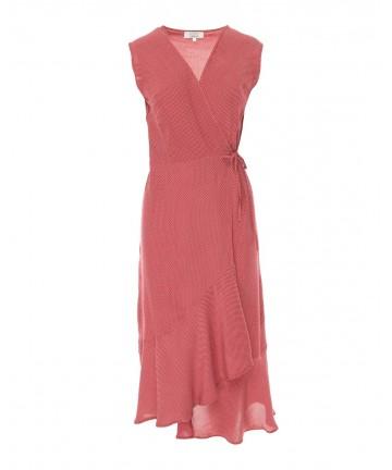 Rochie rosie cu buline...