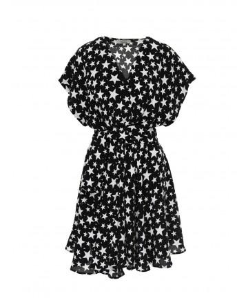 Rochie neagra cu stele Francy