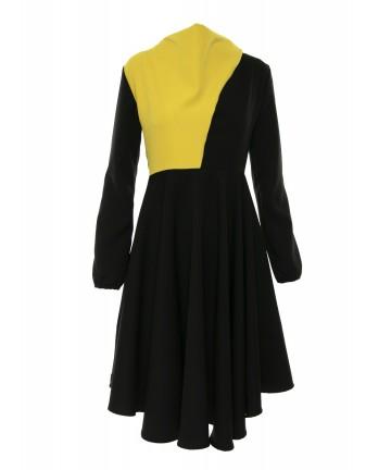 Rochie neagră colorblock Aimee