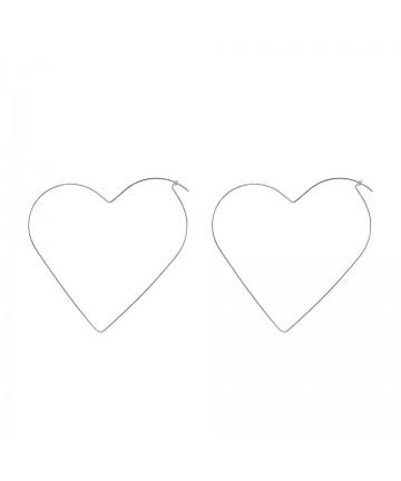 Cercei Argintii Big Heart